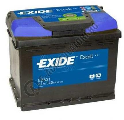 Acumulator Auto Exide Excell 62 Ah borne inverse cod EB621-big