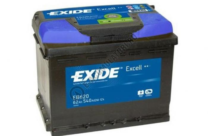 Acumulator Auto Exide Excell 62 Ah cod EB620-big
