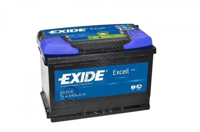 Acumulator Auto Exide Excell 74 Ah cod EB740-big