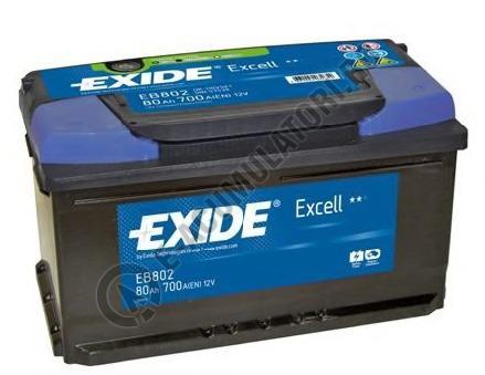 Acumulator Auto Exide Excell 80 Ah cod EB802-big