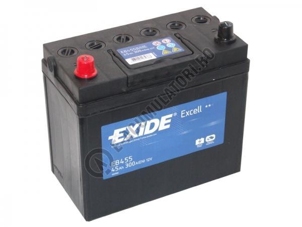 Acumulator Auto Exide Excell Asia 45 Ah cod EB455 borne inverse-big