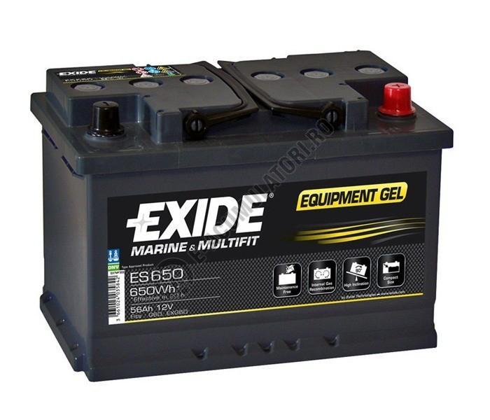Acumulator Auto Exide GEL 56 Ah cod ES650-big