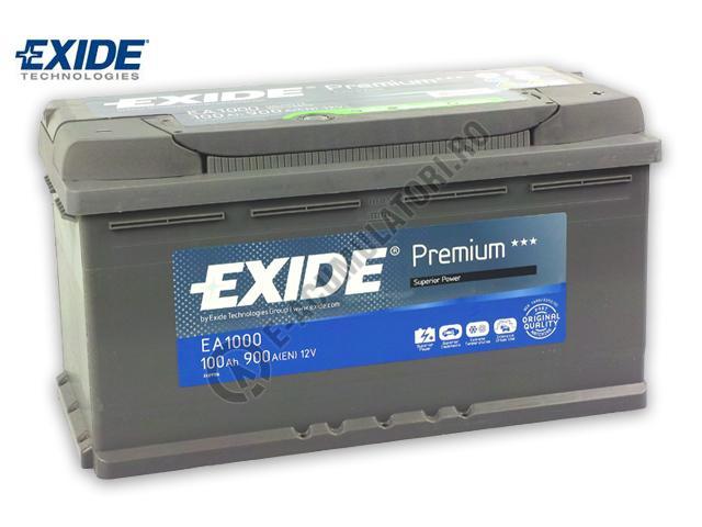 Acumulator Auto Exide Premium 100 Ah cod EA1000-big
