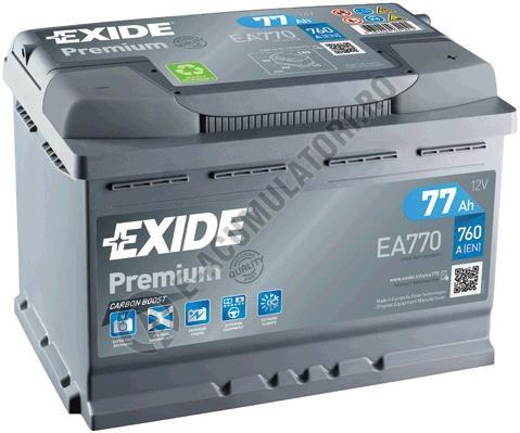 Acumulator Auto Exide Premium 77 Ah cod EA770-big
