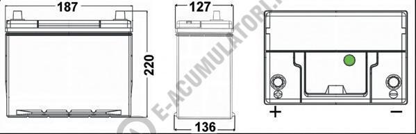 Acumulator Auto Exide Premium Asia 38 Ah cod EA387 borne inverse-big