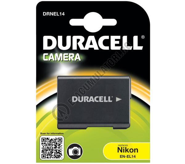 Acumulator Duracell DRNEL14 pentru camere digitale NIKON EN-EL14 7.4v 950mAh 7.03Wh-big