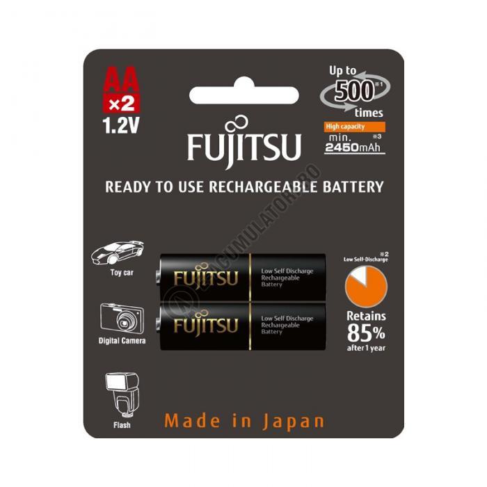 Acumulator FUJITSU BLACK PRO 2x AA ready to use HR-3UTHCEX-2B-big