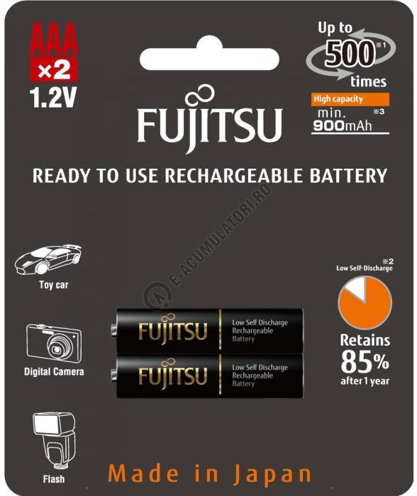 Acumulator FUJITSU BLACK PRO 2x AAA ready to use HR-4UTHCEX-2B-big