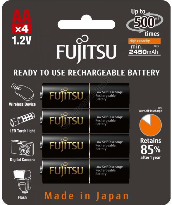 Acumulator FUJITSU BLACK PRO 4x AA ready to use HR-3UTHCEX-4B-big
