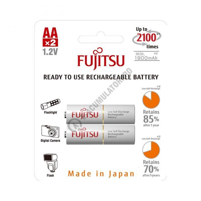Acumulator FUJITSU WHITE 2x AA ready to use HR-3UTCEX-2B-big