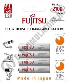 Acumulator FUJITSU WHITE 4x AAA ready to use HR-4UTCEX-4B-big