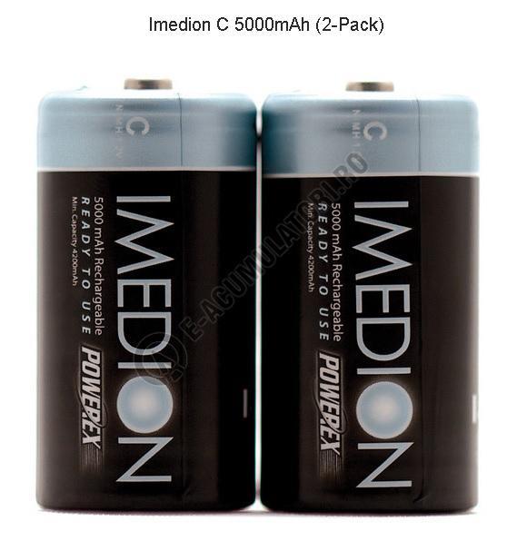 Acumulator MAHA R14 Imedion C, NiMH, 5000 mAh, blister de 2 buc.-big
