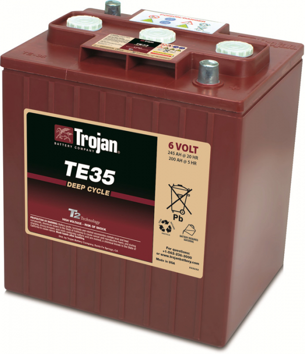 Acumulator Tractiune TROJAN TE35 Deep Cycle 6V 245 Ah-big