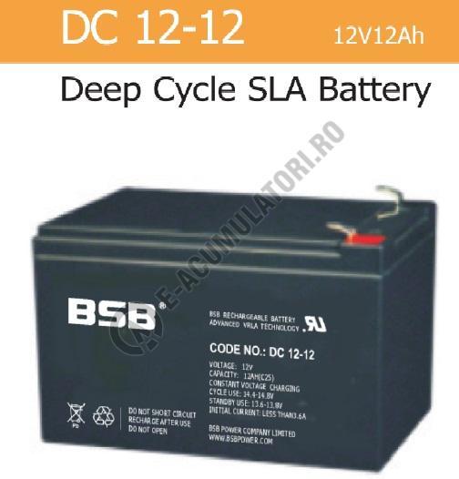 Acumulator VRLA BSB 12 V 12 Ah cod DC12-12-big