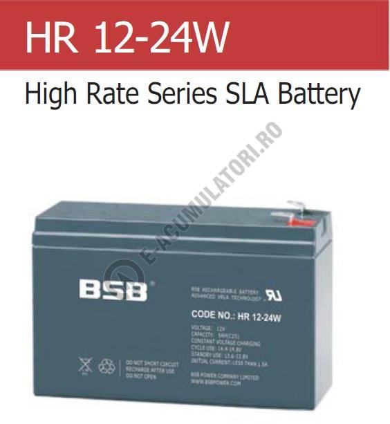 Acumulator VRLA BSB 12 V 5.2 Ah COD HR12-24W-big