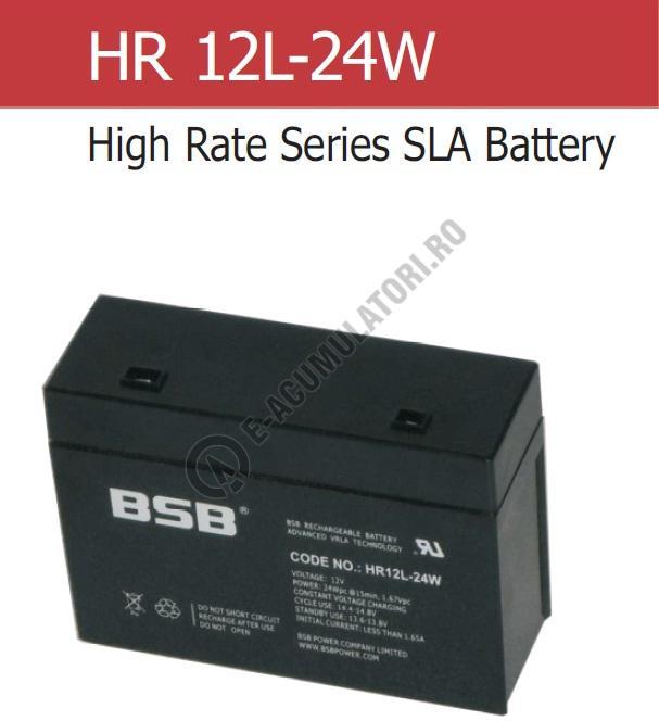Acumulator VRLA BSB 12 V 5.2 Ah COD HR12L-24W-big