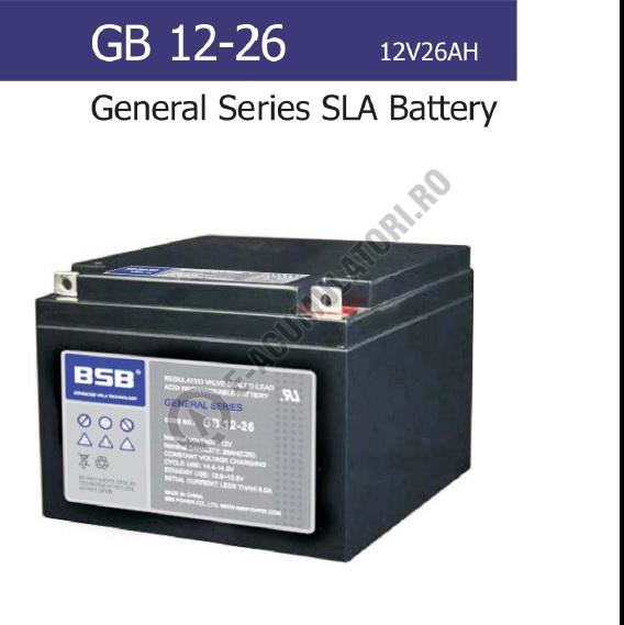 Acumulator VRLA BSB 12V 26 Ah cod GB12-26-big