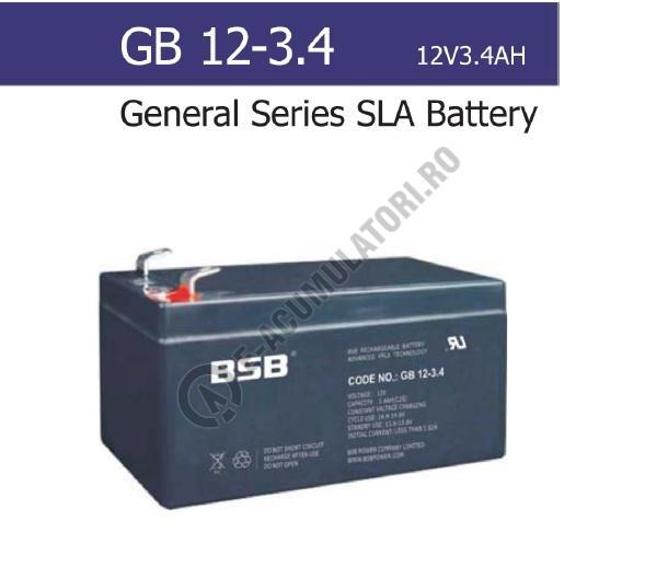 Acumulator VRLA BSB 12V 3.4 Ah cod GB12-3.4-big