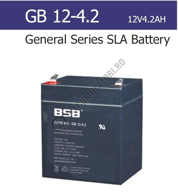 Acumulator VRLA BSB 12V 4.2 Ah cod GB12-4.2-big