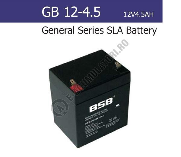Acumulator VRLA BSB 12V 4.5 Ah cod GB12-4.5-big