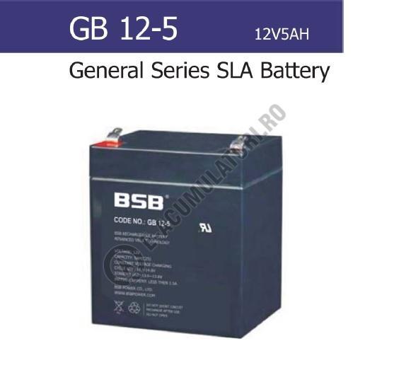 Acumulator VRLA BSB 12V 5 Ah cod GB12-5-big
