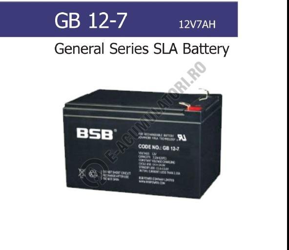 Acumulator VRLA BSB 12V 7 Ah cod GB12-7-big