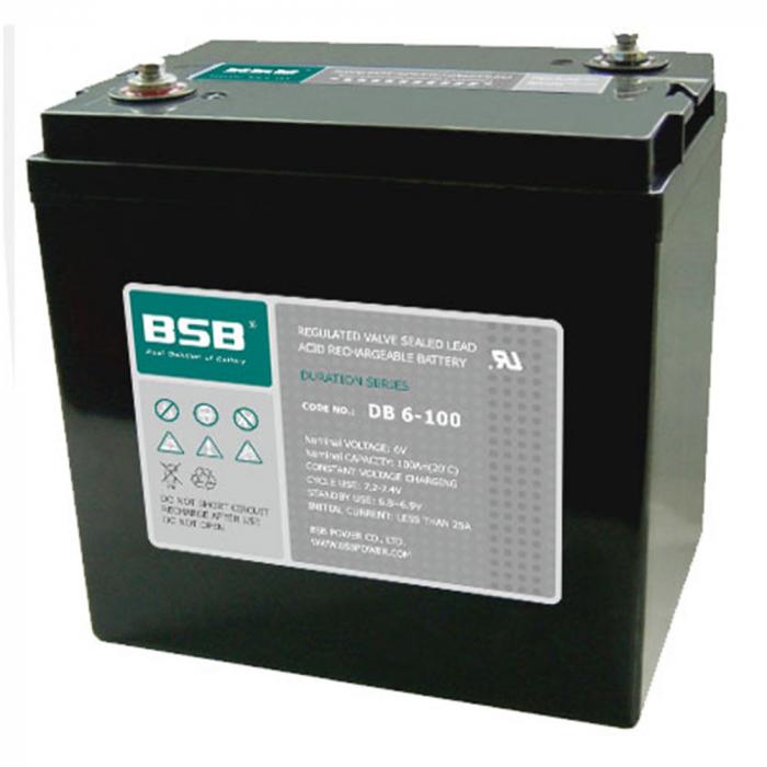 Acumulator VRLA BSB 6 V 100 Ah COD DB6-100-big