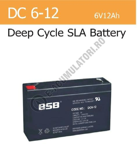 Acumulator VRLA BSB 6 V 12 Ah cod DC6-12-big