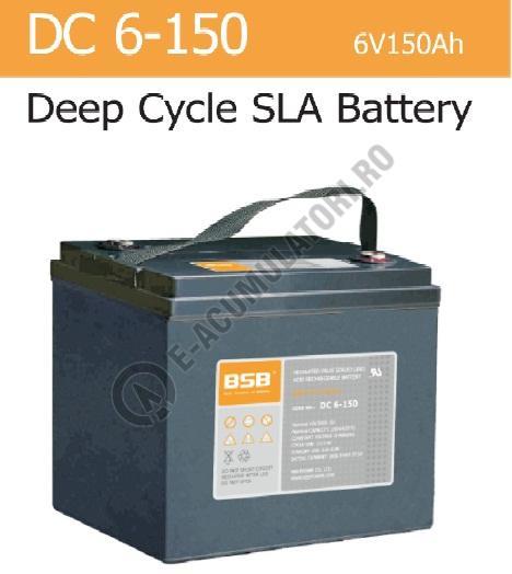 Acumulator VRLA BSB 6 V 150 Ah cod DC6-150-big