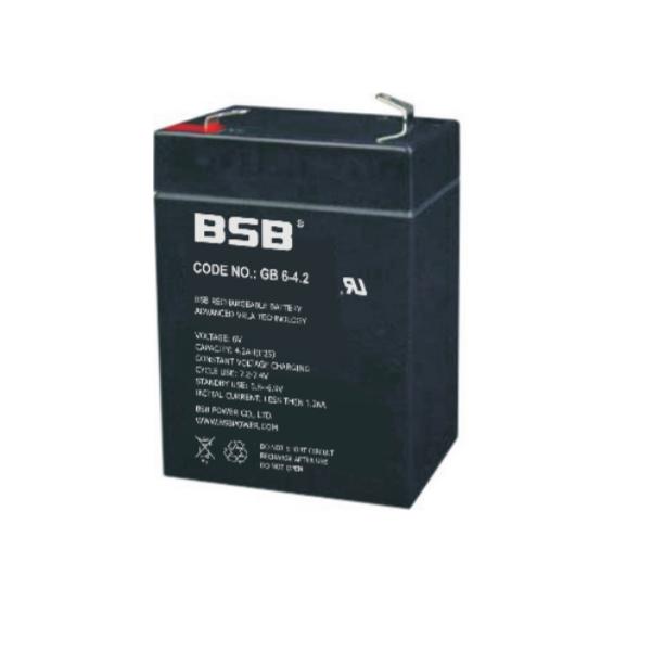 Acumulator VRLA BSB 6V  4.2 Ah cod GB6-4.2-big