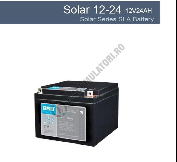 Acumulator VRLA cu GEL BSB 12 V 24 Ah cod SOLAR12-24-big