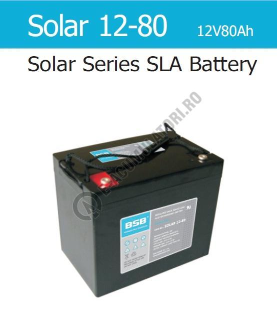 Acumulator VRLA cu GEL BSB 12 V 80 Ah cod SOLAR12-80-big