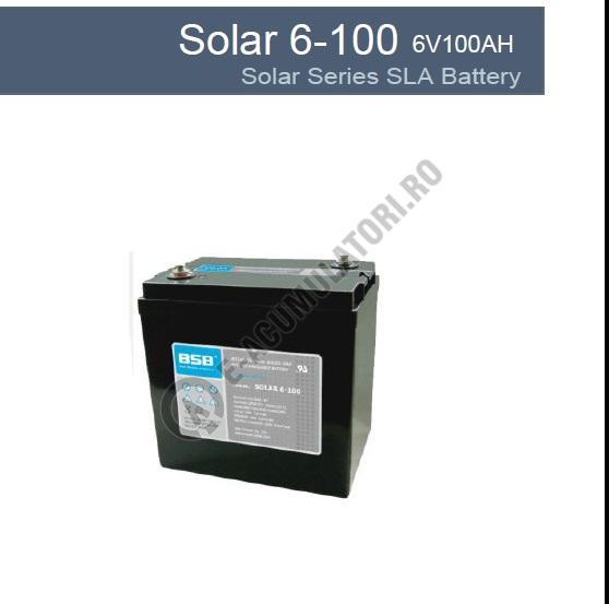 Acumulator VRLA cu GEL BSB 6 V 100 Ah cod SOLAR6-100-big
