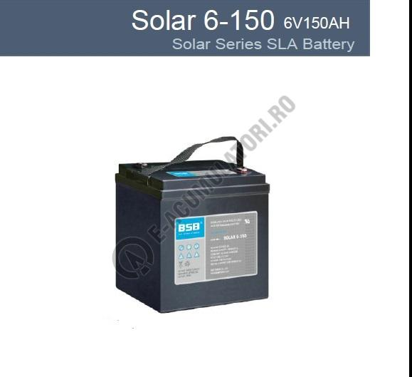 Acumulator VRLA cu GEL BSB 6 V 150 Ah cod SOLAR6-150-big