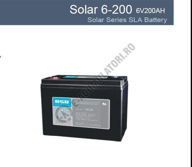 Acumulator VRLA cu GEL BSB 6 V 200 Ah cod SOLAR6-200-big