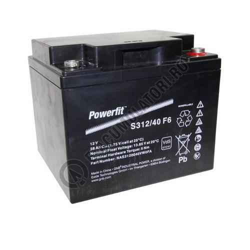 Acumulator VRLA Exide PowerFit 12V 38 AH (C20) S312/40F6-big