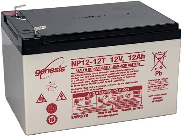 Acumulator VRLA GENESIS 12V 12 Ah NP12-12 cu conector Fast-on 6.35 mm-big