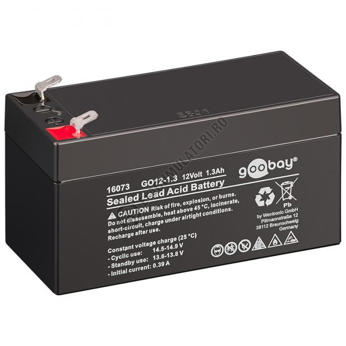 Acumulator VRLA Goobay 12V 1.3Ah GO12-1.3 cod 16073-big