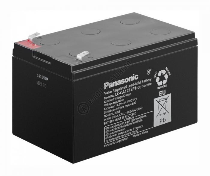 Acumulator VRLA Panasonic 12V 12Ah cod LC-CA1212P1-big