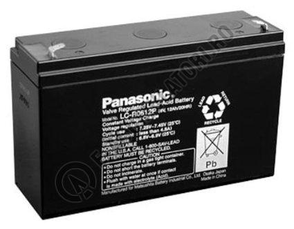 Acumulator VRLA Panasonic 6V 12 Ah cod LC-R0612P (F187)-big
