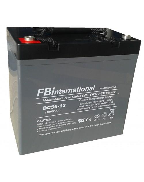 Acumulator VRLA FB International GEL 12V 55 Ah DCG55-12-big