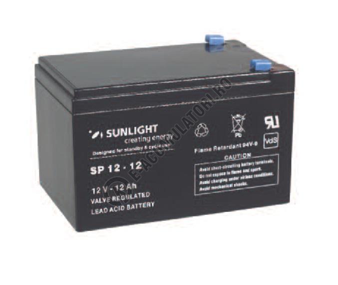 Acumulator VRLA SUNLIGHT 12V 12 Ah cod SPA 12-12-big