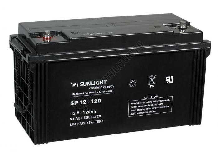 Acumulator VRLA SUNLIGHT 12V 120 Ah cod SPB 12-120-big