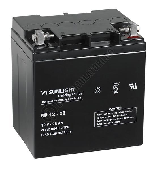 Acumulator VRLA SUNLIGHT 12V 28 Ah cod SPA 12-28-big