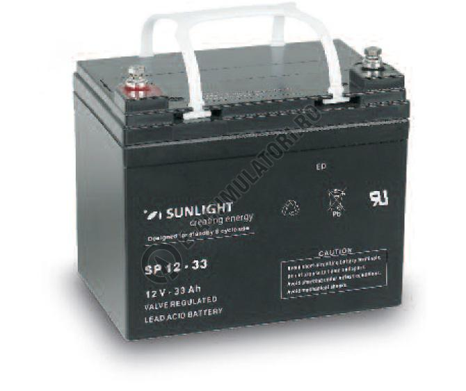 Acumulator VRLA SUNLIGHT 12V 33 Ah cod SPB 12-33-big