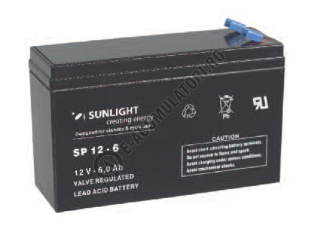 Acumulator VRLA SUNLIGHT 12V 6 Ah cod SPA 12-6-big