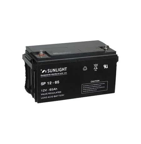 Acumulator VRLA SUNLIGHT 12V 65 Ah cod SPB 12-65-big