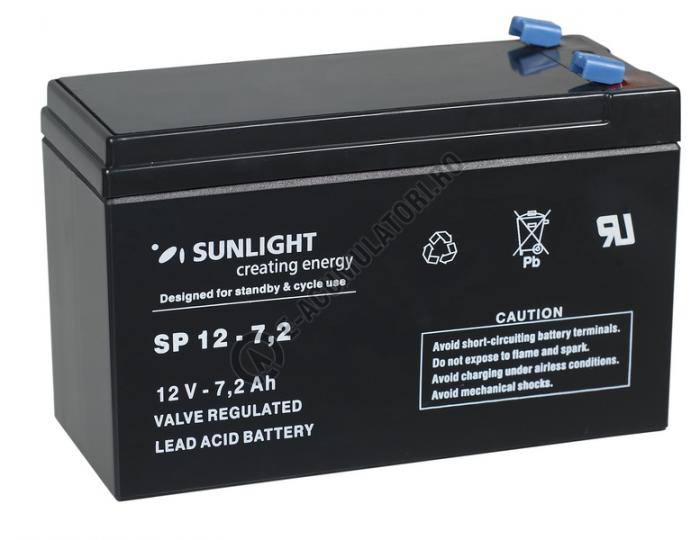 Acumulator VRLA SUNLIGHT 12V 7.2 Ah cod SPA 12-7.2-big