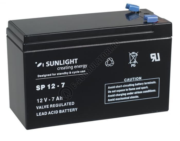 Acumulator VRLA SUNLIGHT 12V 7 Ah cod SPA 12-7-big