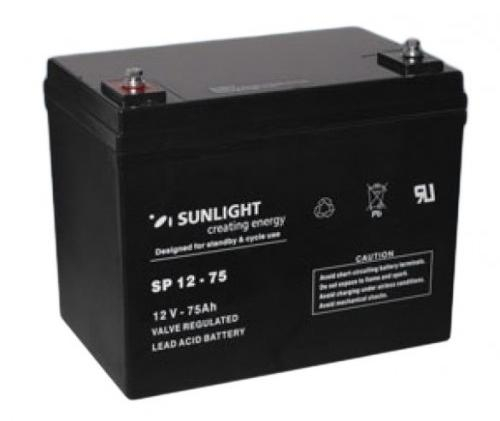 Acumulator VRLA SUNLIGHT 12V 75 Ah cod SPB 12-75-big